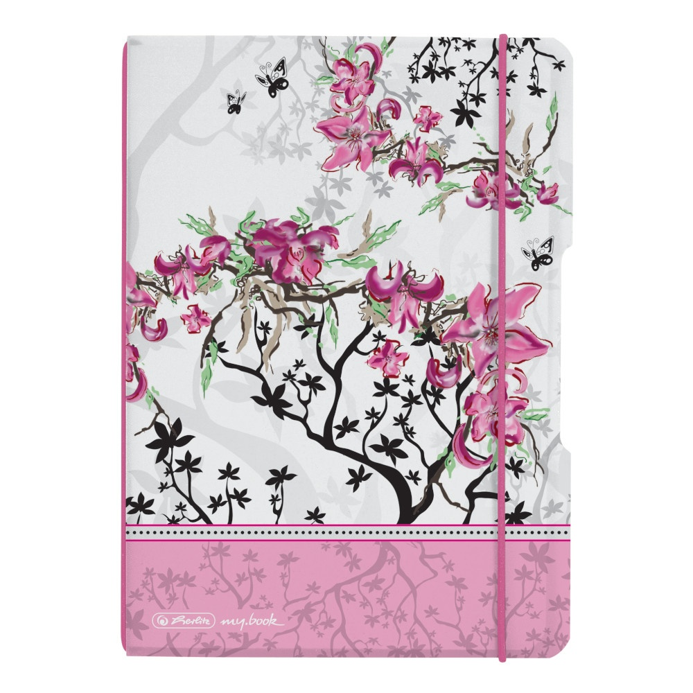 Herlitz Notizheft A5 PP flex kar Ladylike Bloom