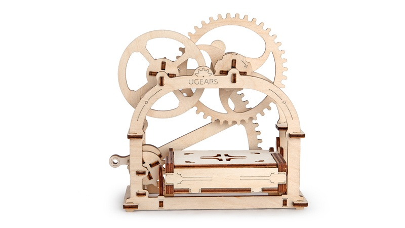 Holzbaukasten Ugears Model Mechanical Etui  Schatulle