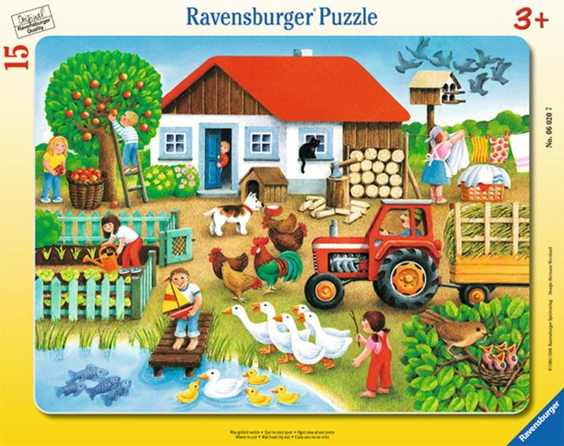 Ravensburger Puzzle Was gehört wohin? 15 Teile