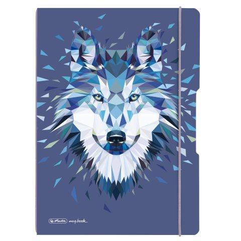 Herlitz Notizheft Flex A4 Wild Animals Wolf