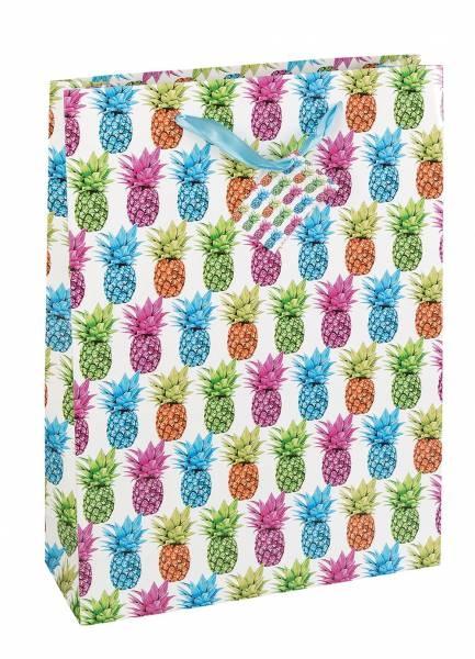 Geschenktasche Ananas 23 x 18 x 8 cm