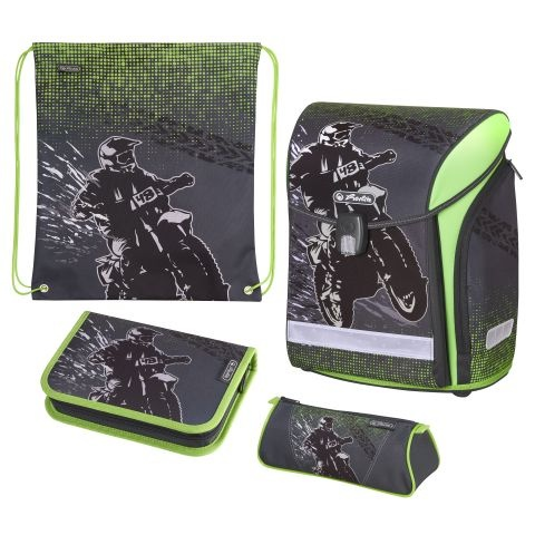 Herlitz Schulranzen Midi Plus Motocross