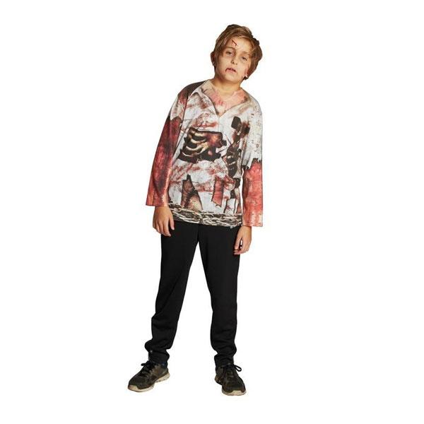 Kostüm Zombie Shirt 152