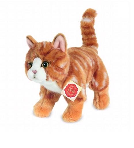 Teddy Hermann Katze stehend rot getigert 20 cm