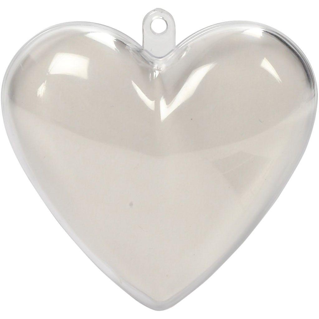 Kunststoff Deko-Herz 10 Stück