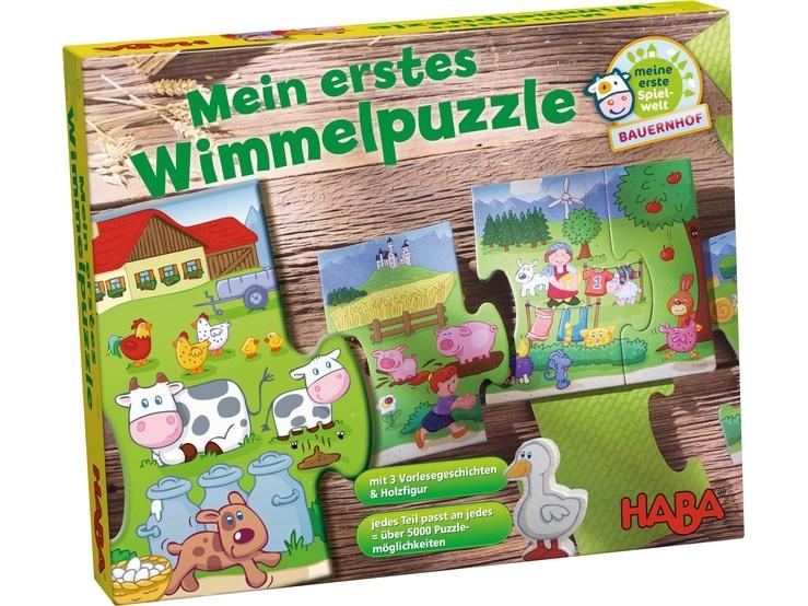 Haba Mein erstes Wimmelpuzzle Bauernhof