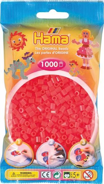 Hama Bügelperlen 1000 Stück  neon-rot