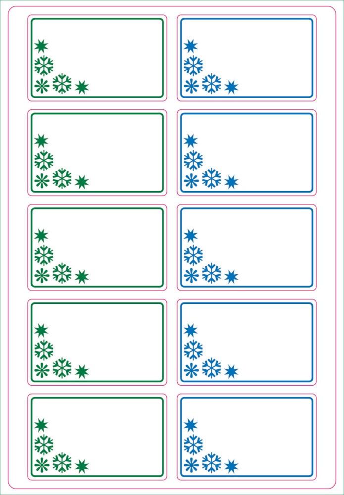 Etiketten TK grün/blau