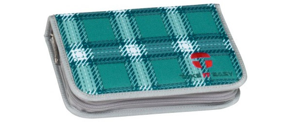 Take it Easy Ocean blau Etui mit zwei Klappen leer