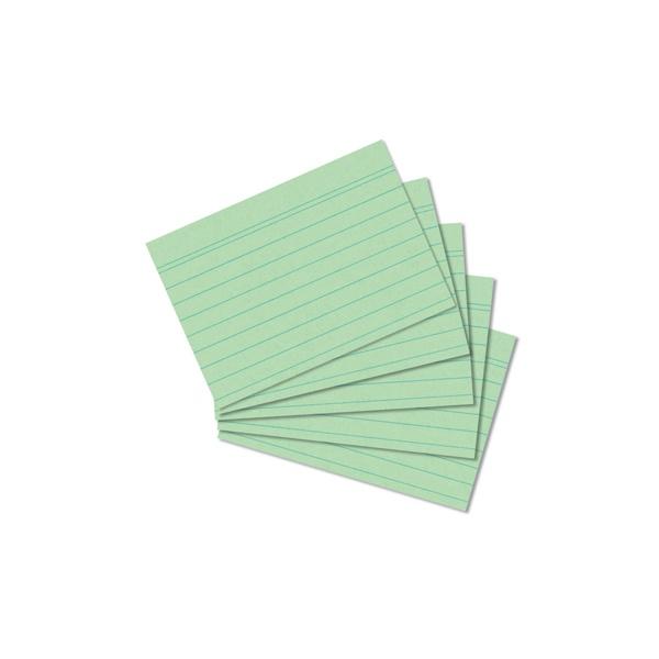 Karteikarten A8 grün liniert 100 Stück