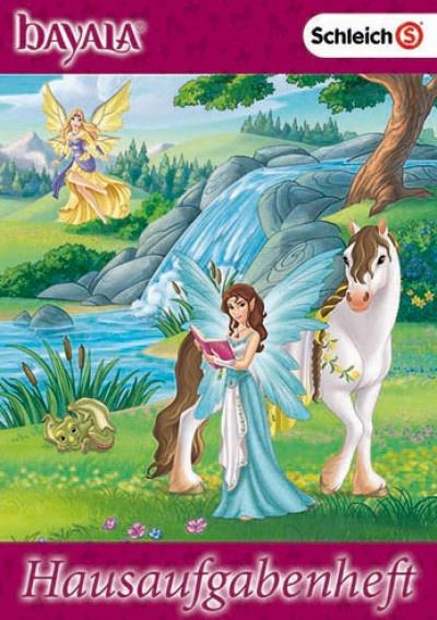 Hausaufgabenheft Pegasus Regenbogenbunt