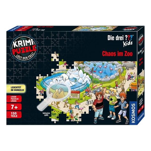 Krimi Puzzle Die drei ??? Kids - Chaos im Zoo 150 Teile