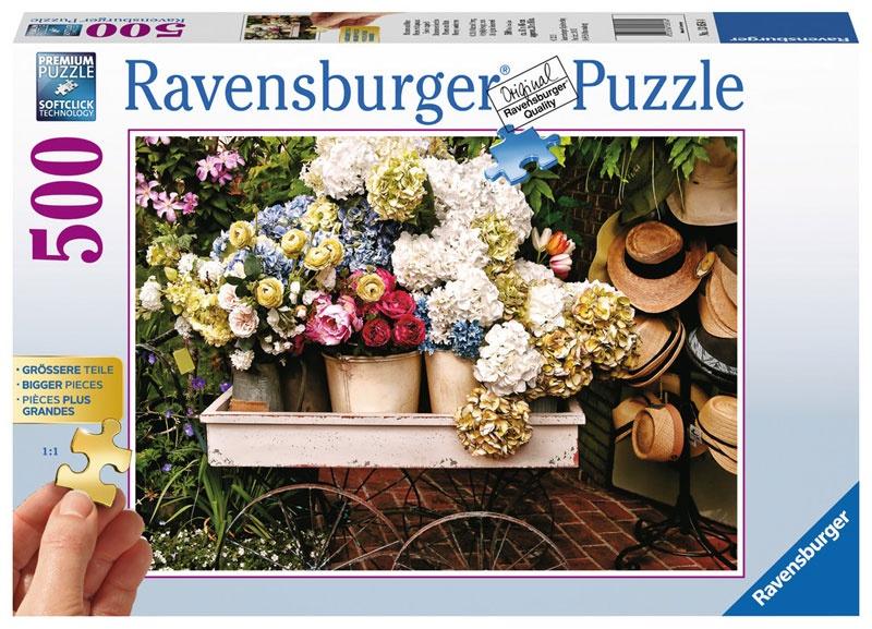 Ravensburger Puzzle Blumen und Hüte 500 Teile
