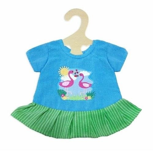 Heless Pupenkleidung Kleid Flamingo Gr. 35  - 45 cm