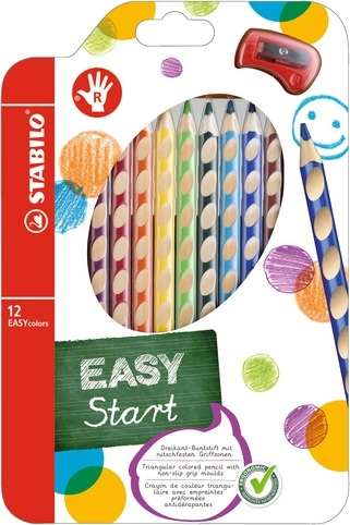 Stabilo EASYcolors Farbstifte für Rechtshänder 12 Stück