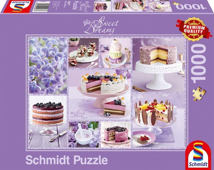 Schmidt Spiele Puzzke Kaffeekränzchen in Flieder 1000 Teile
