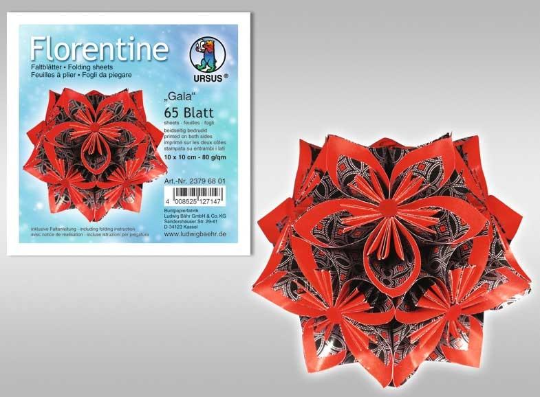Faltblätter Florentine  Gala 15x15 cm