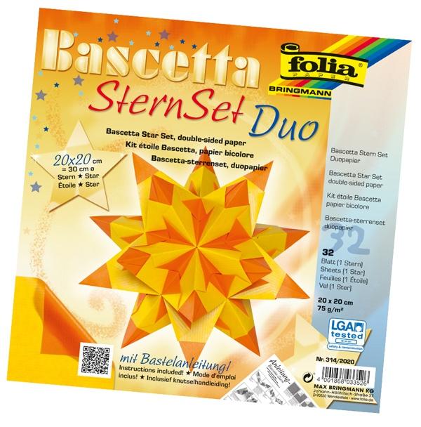 Folia Bastelset Bascettastern gelb/orange  20 x20