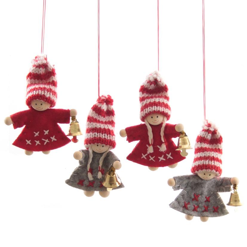 Weihnachtwichtel aus Filz 4 Stück Set Wichtel