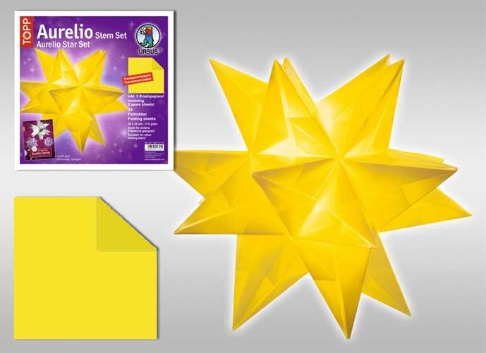 Faltblätter Aurelio Stern gelb