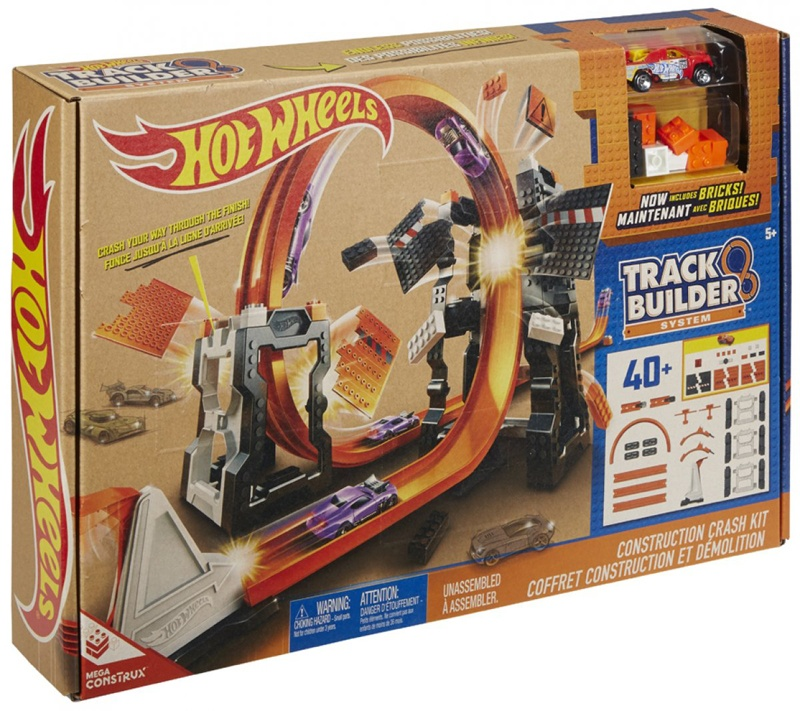 Mattel Hot Wheels Track Builder Crash Set