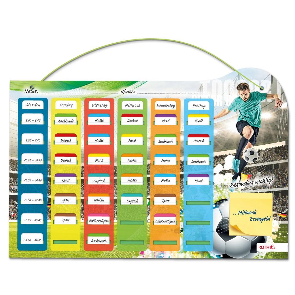 Roth Klipp+Klar Stundenplan Grundschule Steckfix Fußball