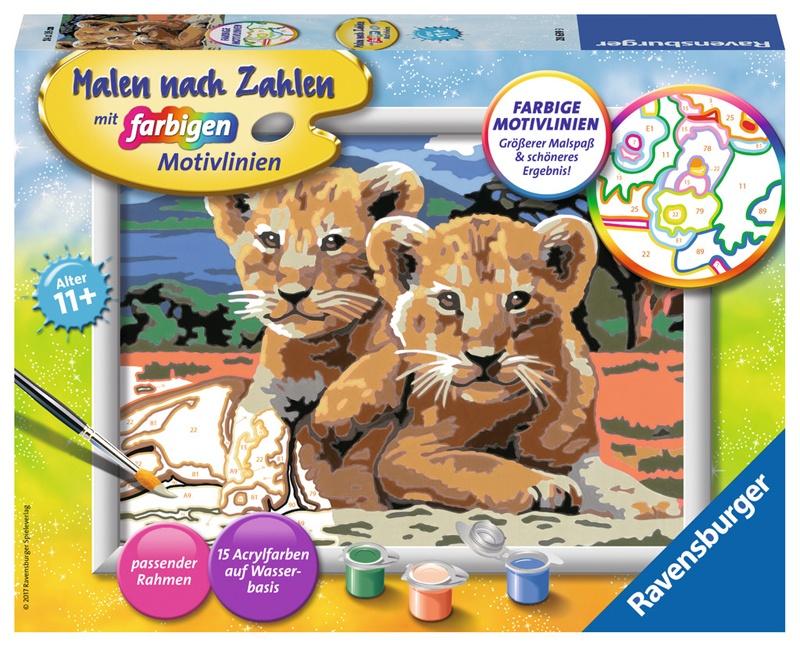 Ravensburger Malen nach Zahlen Kleine Löwenbabys