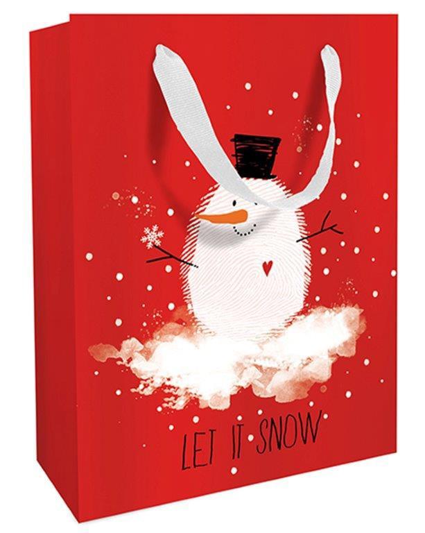 Geschenktasche Weihnachten Bobby Snow 25 x 33 x 11 cm