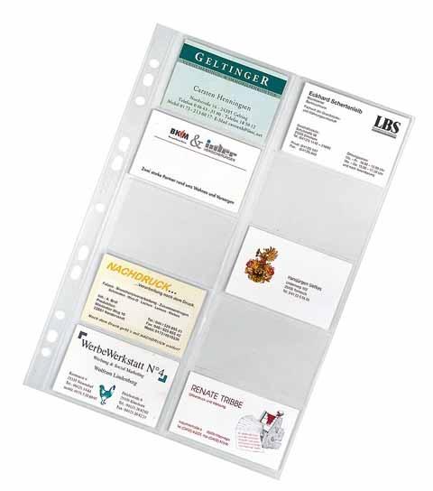 Veloflex Visitenkartenhüllen  10 Stück