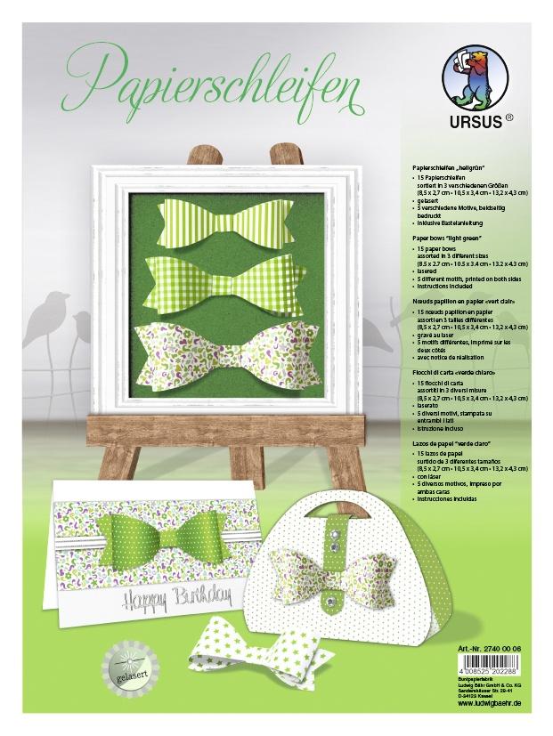 Bastelmappe Papierschleifen hellgrün
