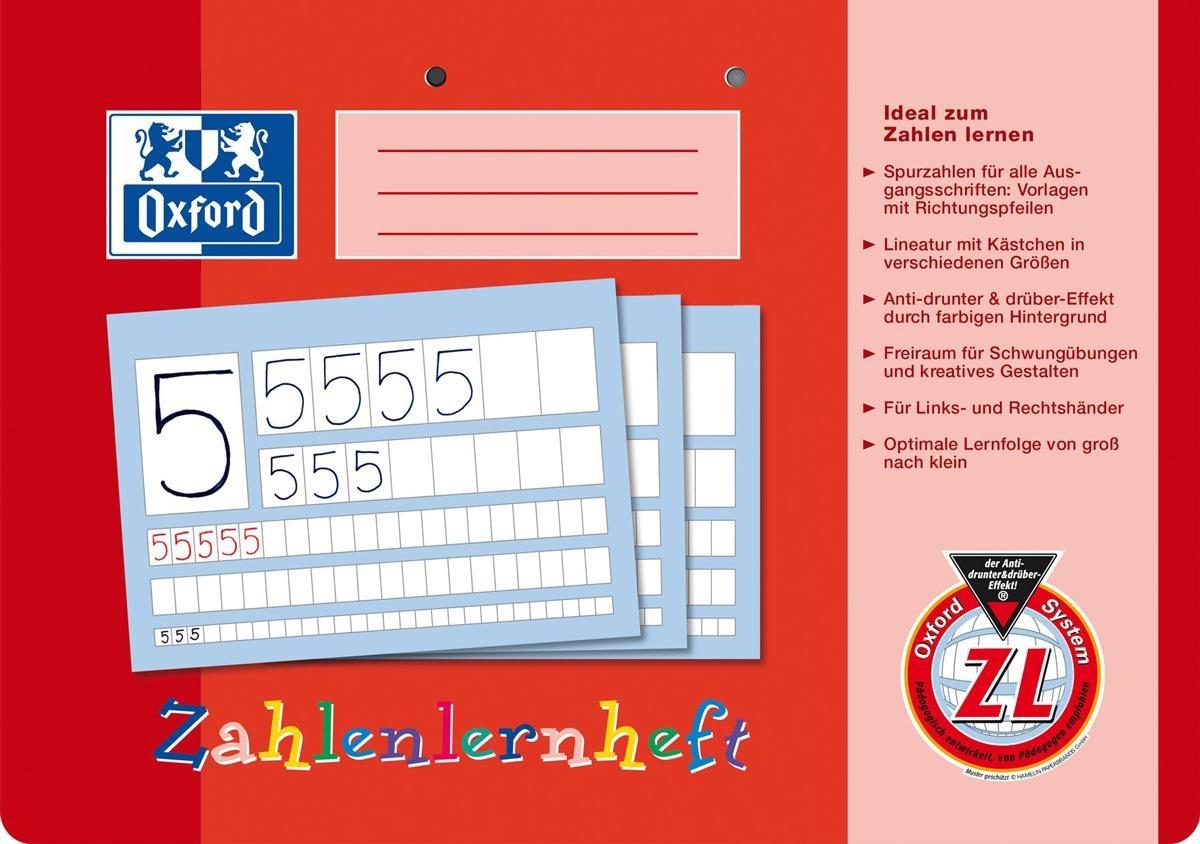 Oxford Zahlenlernheft A4 quer Lineatur ZL