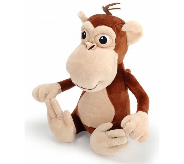 Helden der Stadt Plüsch Anton der Affe