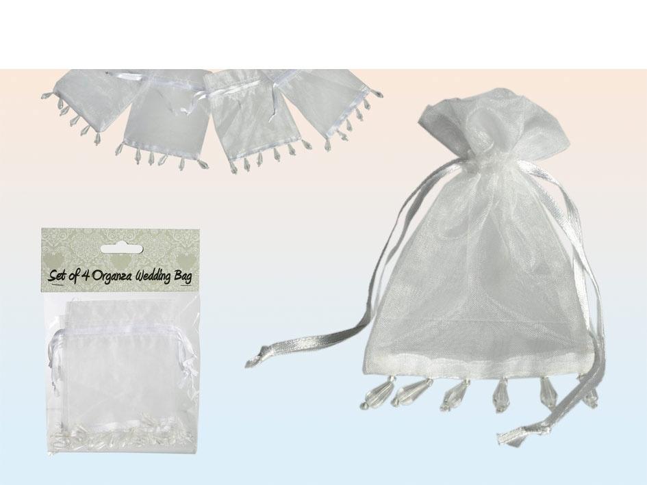 Oganza Säckchen 4 Stück für Hochzeit
