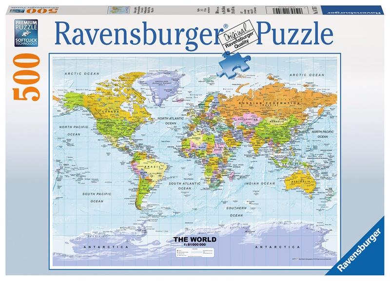 Ravensburger Puzzle Weltkarte  politisch 500 Teile