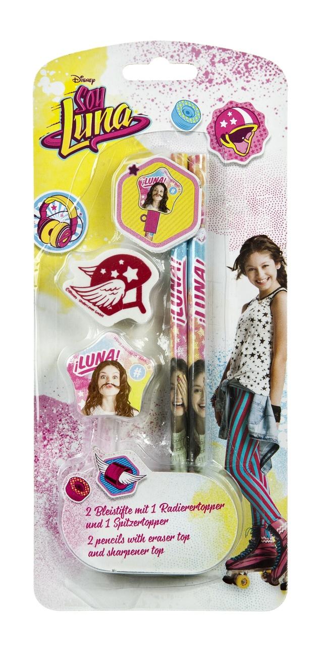 Soy Luna Bleistifte mit Radierer 2Stck.