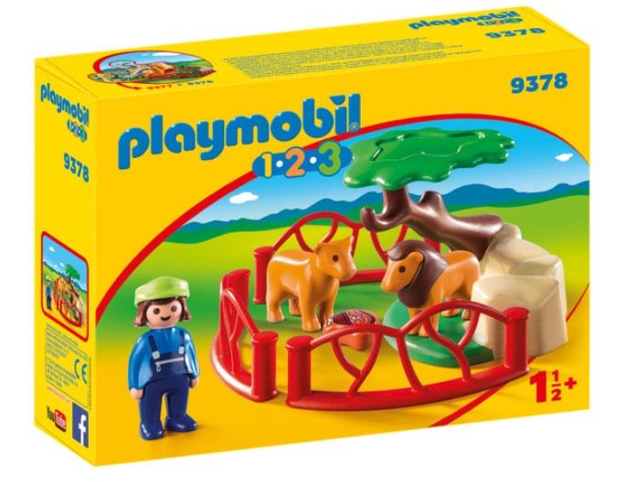Playmobil 9378 1.2.3 Löwengehege