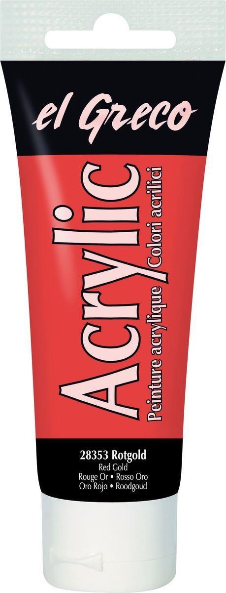 El greco Acrylic Acrylfarbe Rotgold 75ml