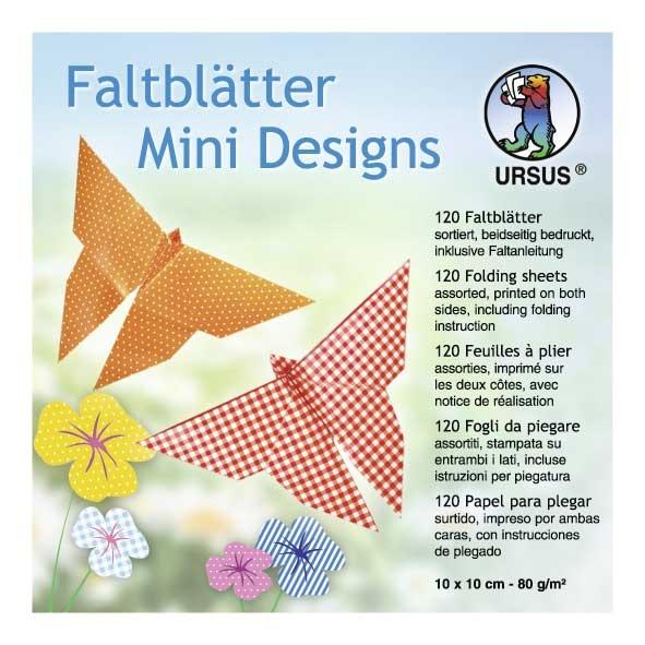 Faltblätter Mini Designs 10 x 10 cm