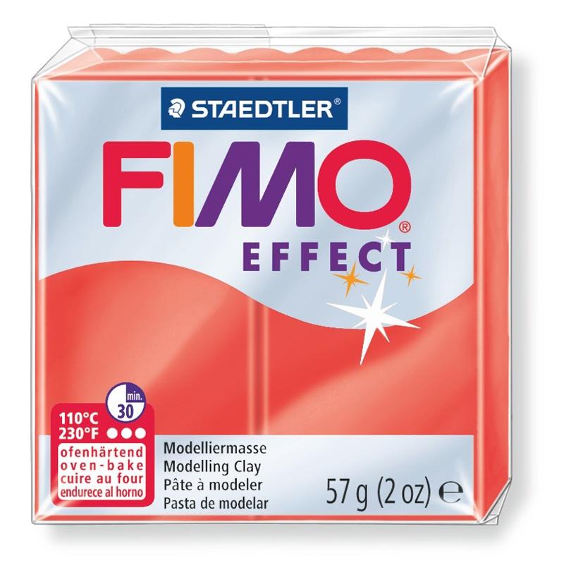 Staedtler Modelliermasse Fimo effect transluzent rot
