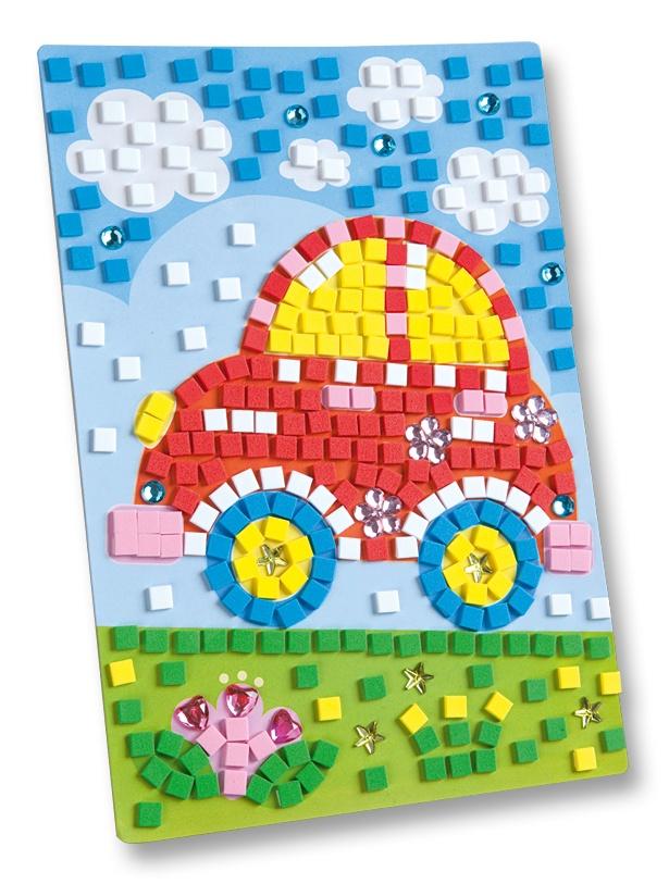 Folia Moosgummi Mosaik Auto