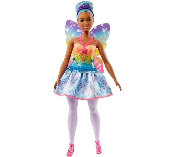 Barbie Dreamtopia Fee-Puppe BonBon blaue Haare FJC87