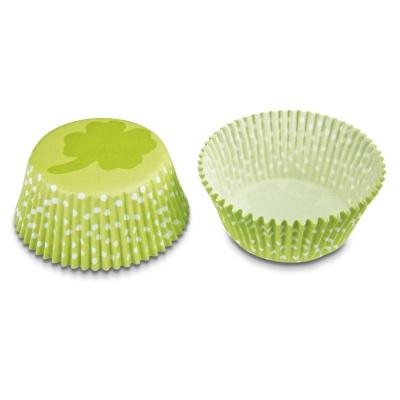 Muffinförmchen Kleeblatt mini