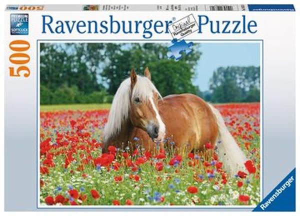 Ravensburger Puzzle Pferd im Mohnfeld