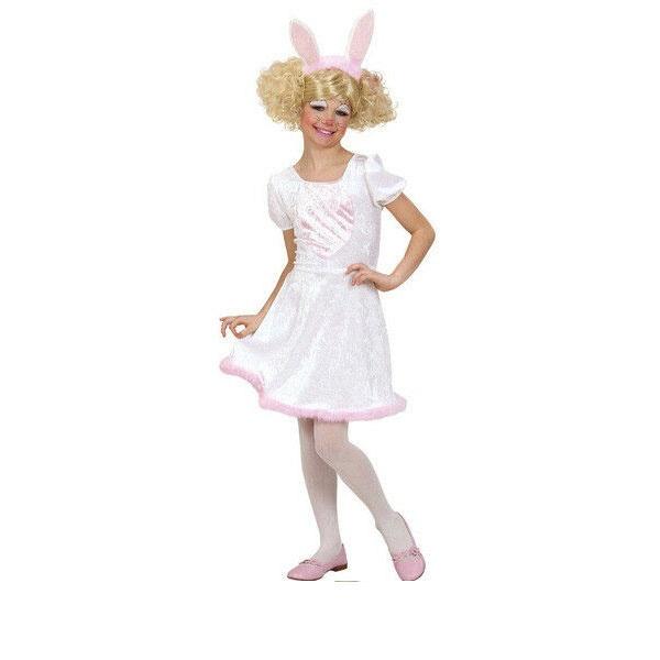 Kostüm Häschen weiß, rosa Gr. 140
