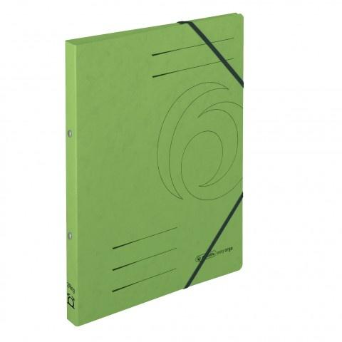 Ringhefter Colorspan-Karton A4 grün von Herlitz