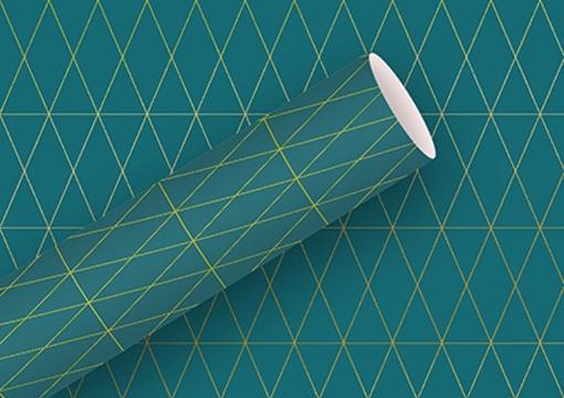 Geschenkpapier  Geometric petrol