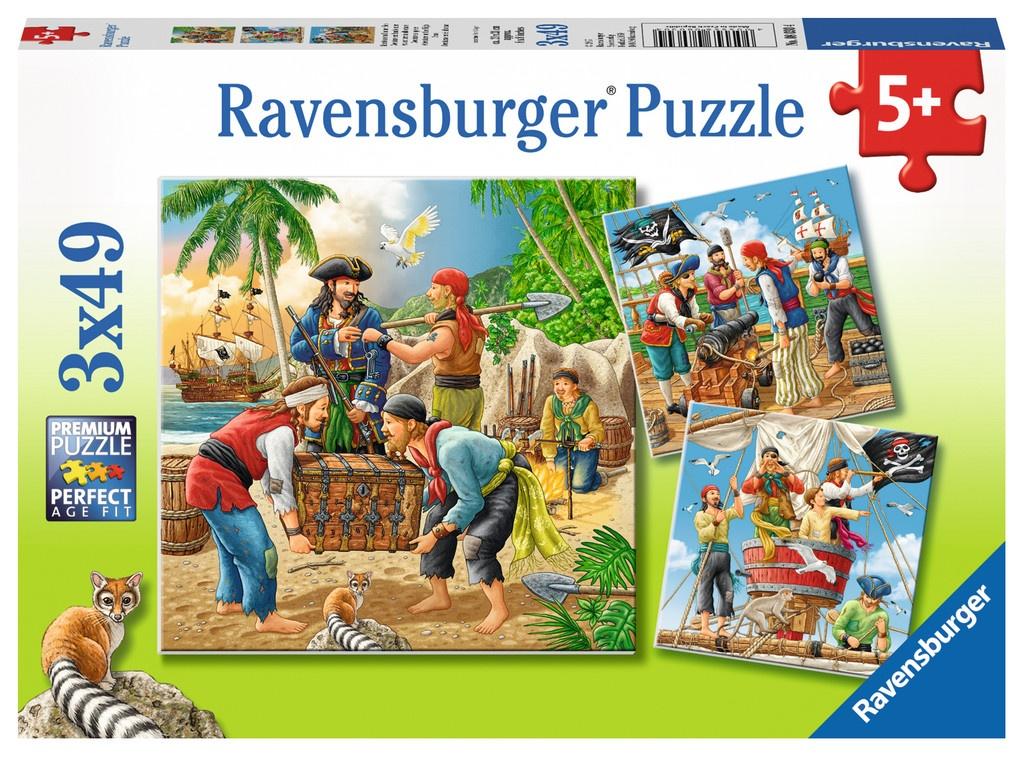 Ravensburger Puzzle Abenteuer auf See 3 x 49 Teile
