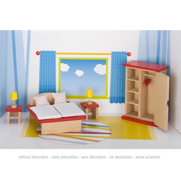 Puppenmöbel Schlafzimmer, Holz