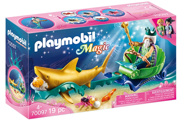 Playmobil 70097 Magic Meereskönig mit Haikutsche