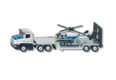 Siku 1610 Polizei-Tieflader mit Hubschrauber